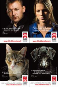 Campagne 30 millions d'amis contre l'abandon