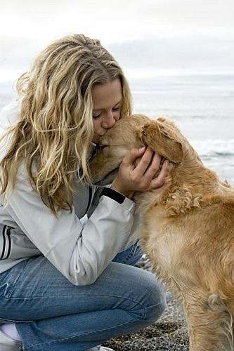 Embrasser son chien