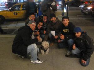 Cerbero rencontre des newyorkais