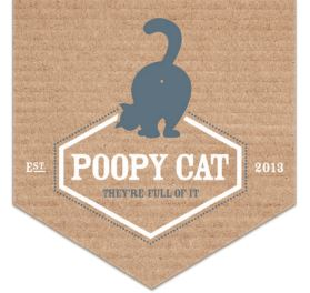 Poopy cat logo