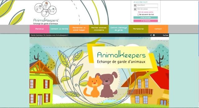 visuel du site Animalkeepers