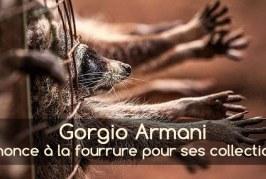 Giorgio Armani renonce à la fourrure pour ses prochaines collections