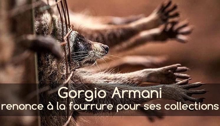Armani renonce à la fourrure